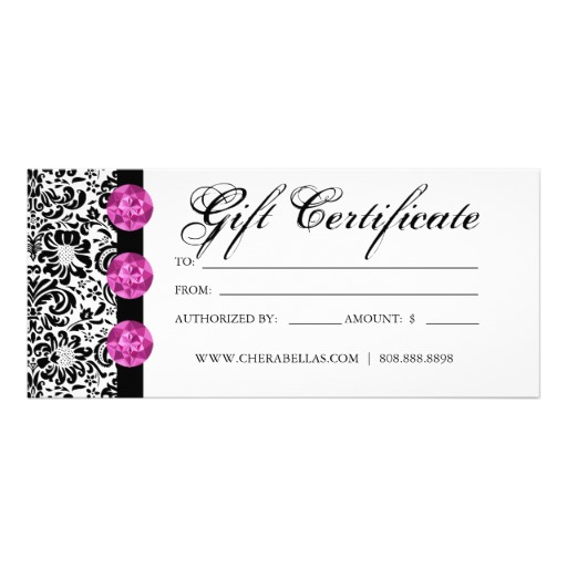 Salon Gift Certificate Template Free Printable