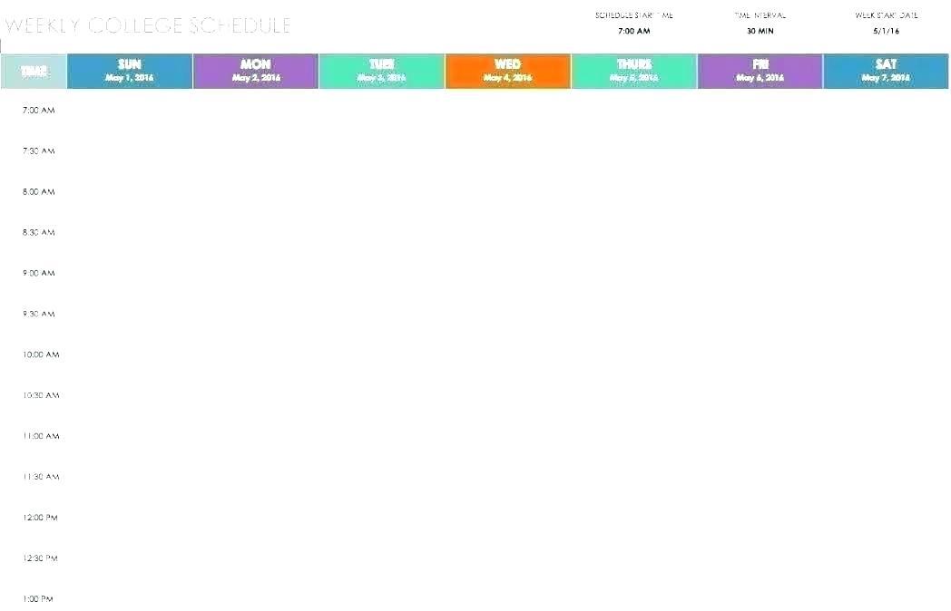 Schedule Maker Template Pdf