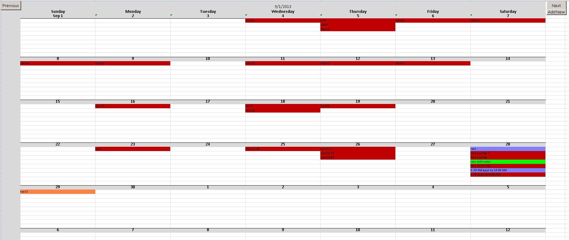 Scheduling Calendar Template Excel