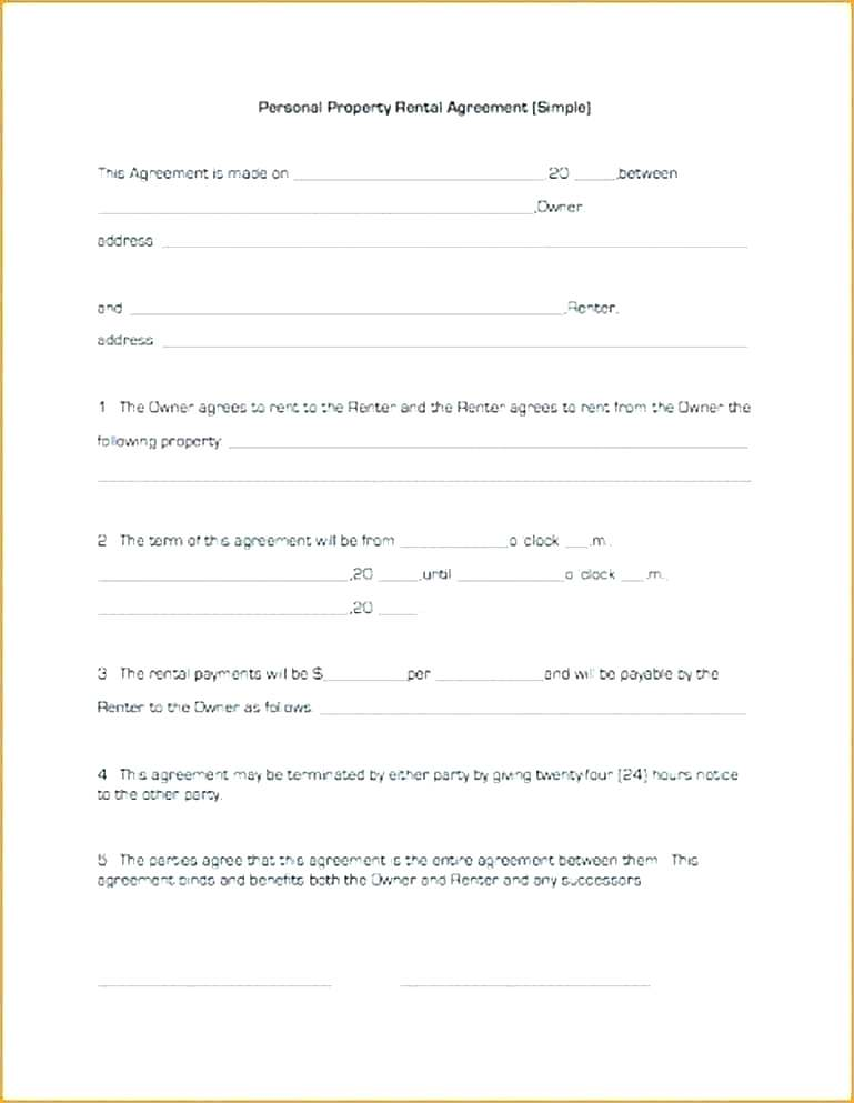 Simple Lease Contract Template