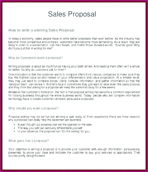 Simple Sales Proposal Template Free