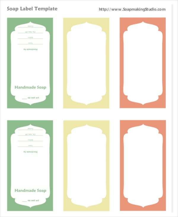 Soap Label Template Word