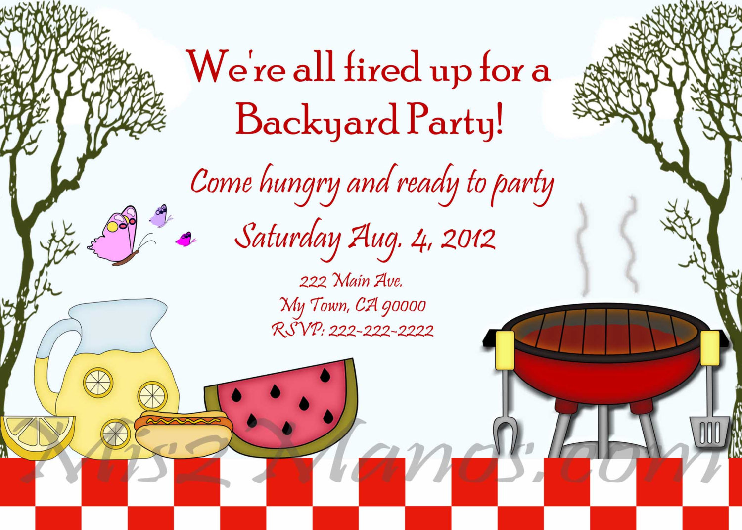 Summer Bbq Invitation Template