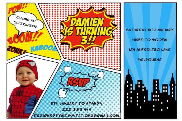 Superhero Invitation Templates Free Download