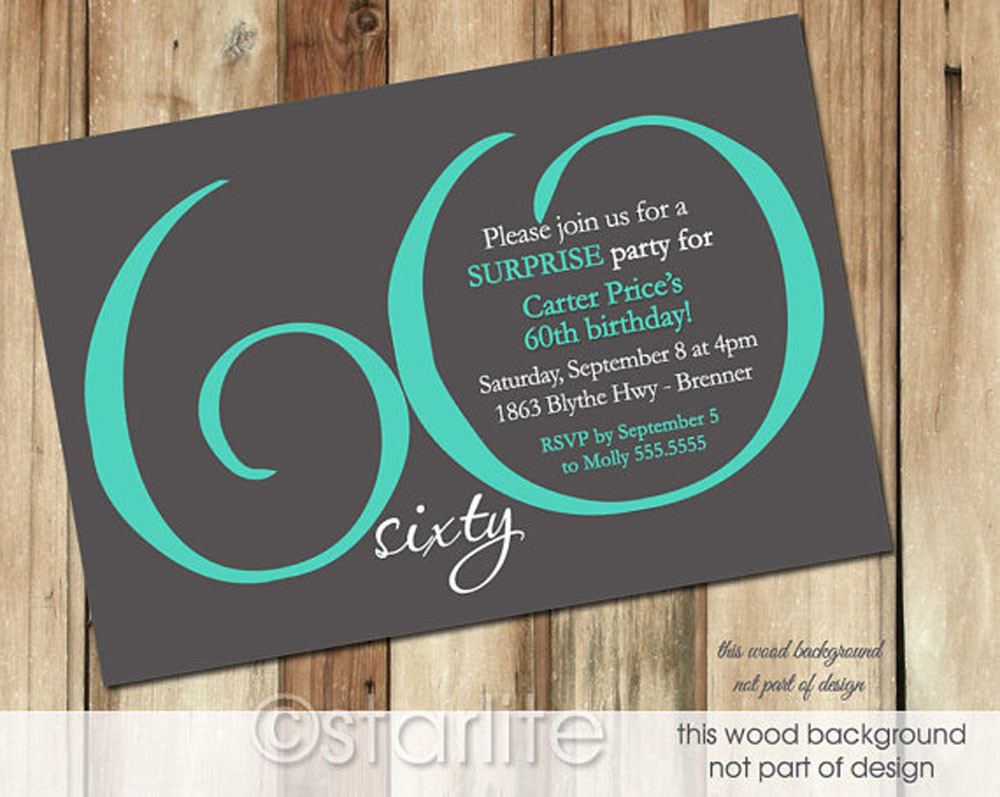 Birthday Invitation Templates Free Download 60th Birthday Invitation Card Template Free Download