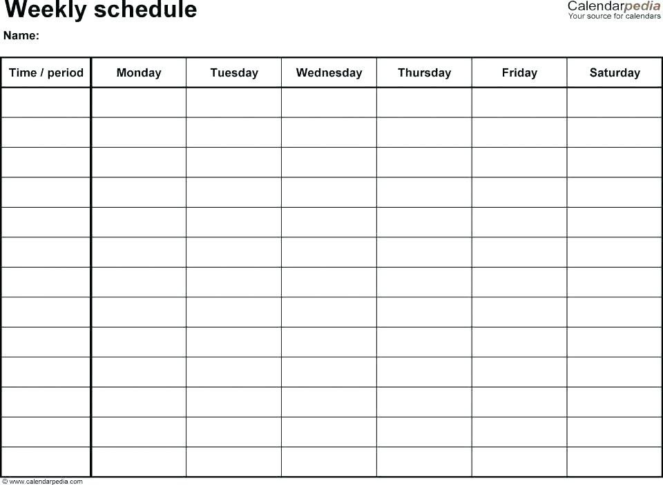 Team Mom Snack Schedule Template