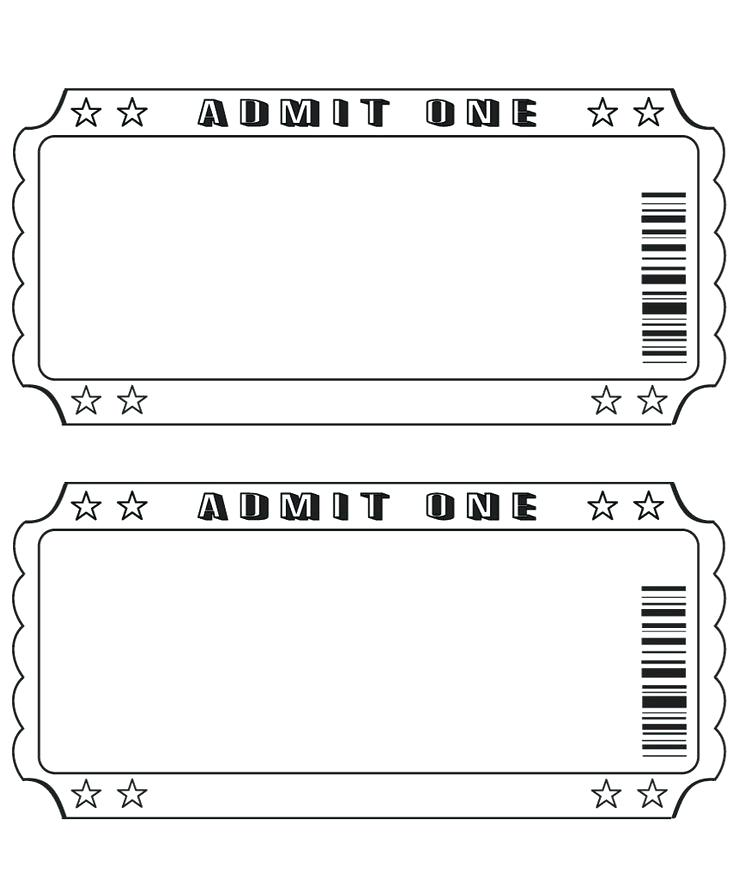 Ticket Stub Template Word