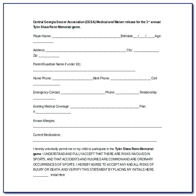 Waiver Form Template For Yoga Class