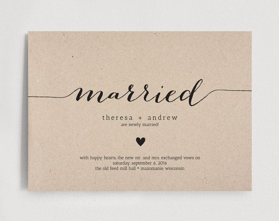 Wedding Announcement Template