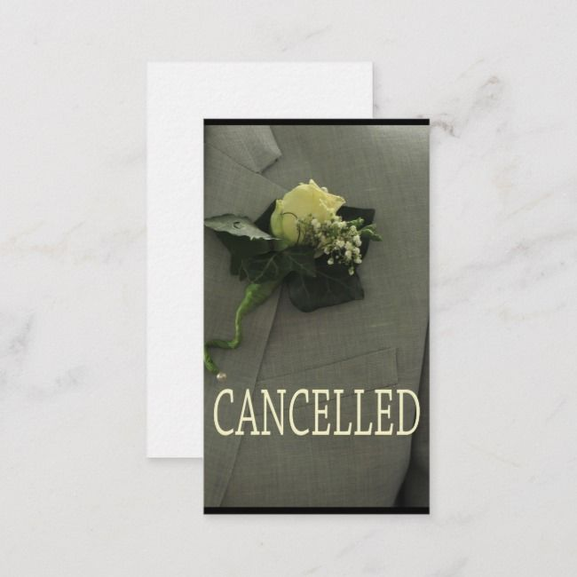 Wedding Cancellation Announcement Templates