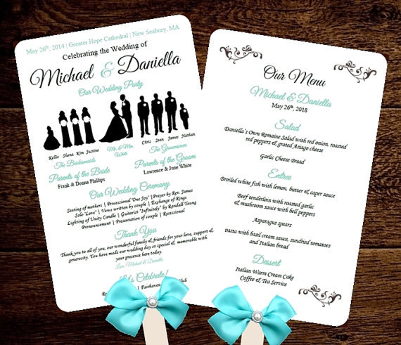Wedding Fan Program Template Free