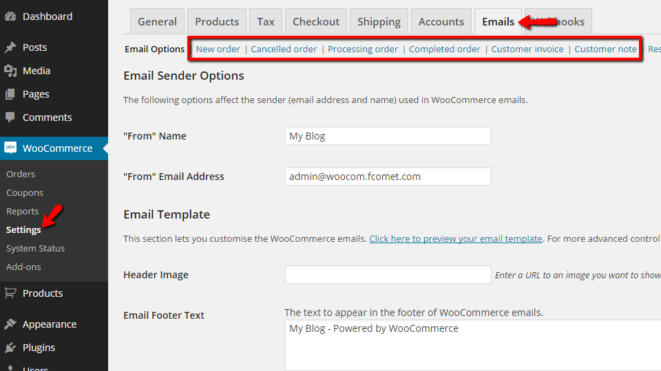 Woocommerce Email Templates Edit