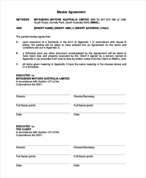 Word Car Lease Agreement Template