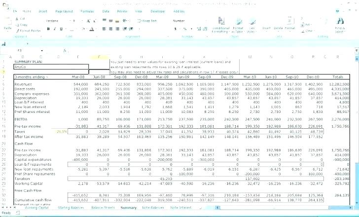 13 Week Cash Flow Forecast Template Excel Free