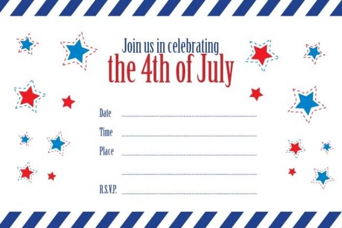 4th Of July Invitation Templates