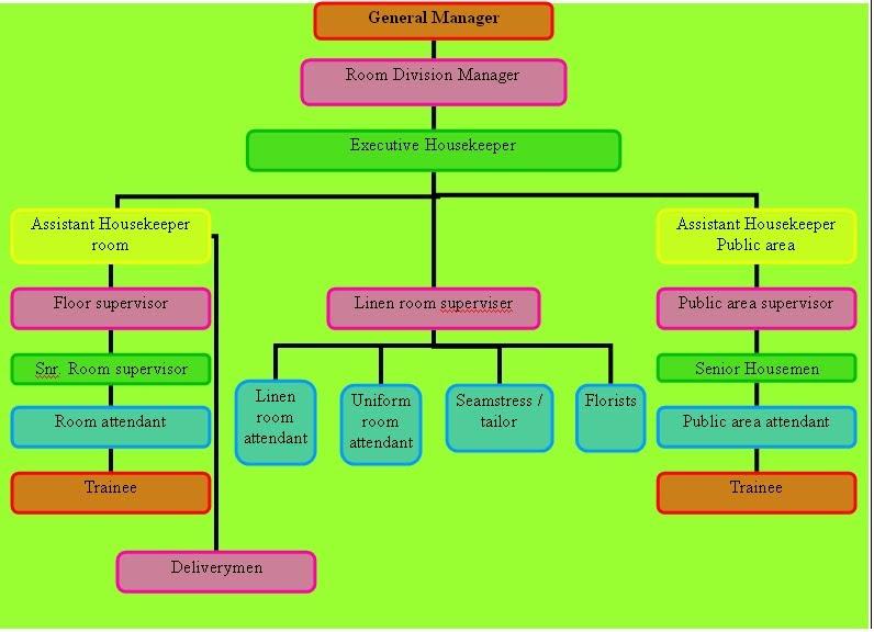 5 Star Hotel Hotel Organizational Chart Template
