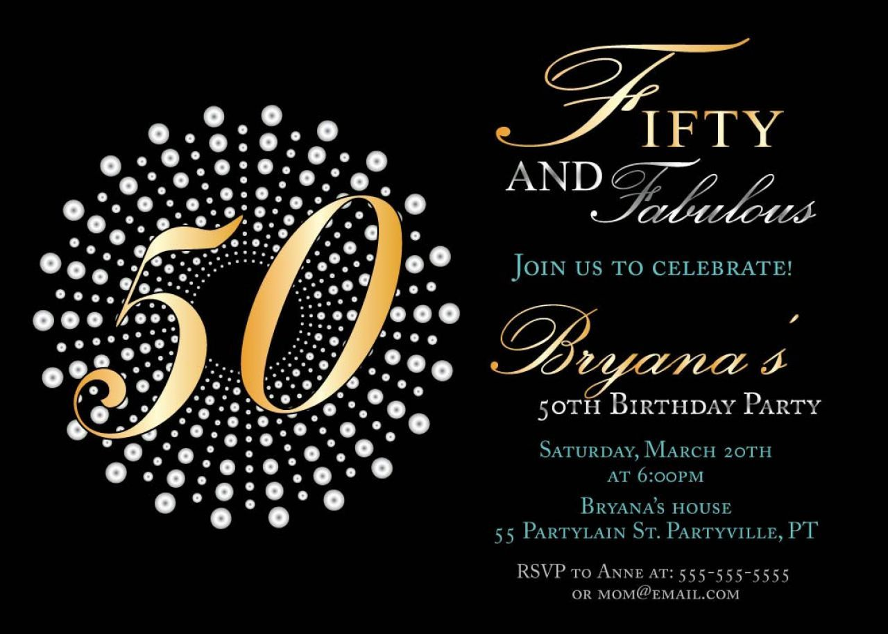 50th Birthday Invitations Templates Free