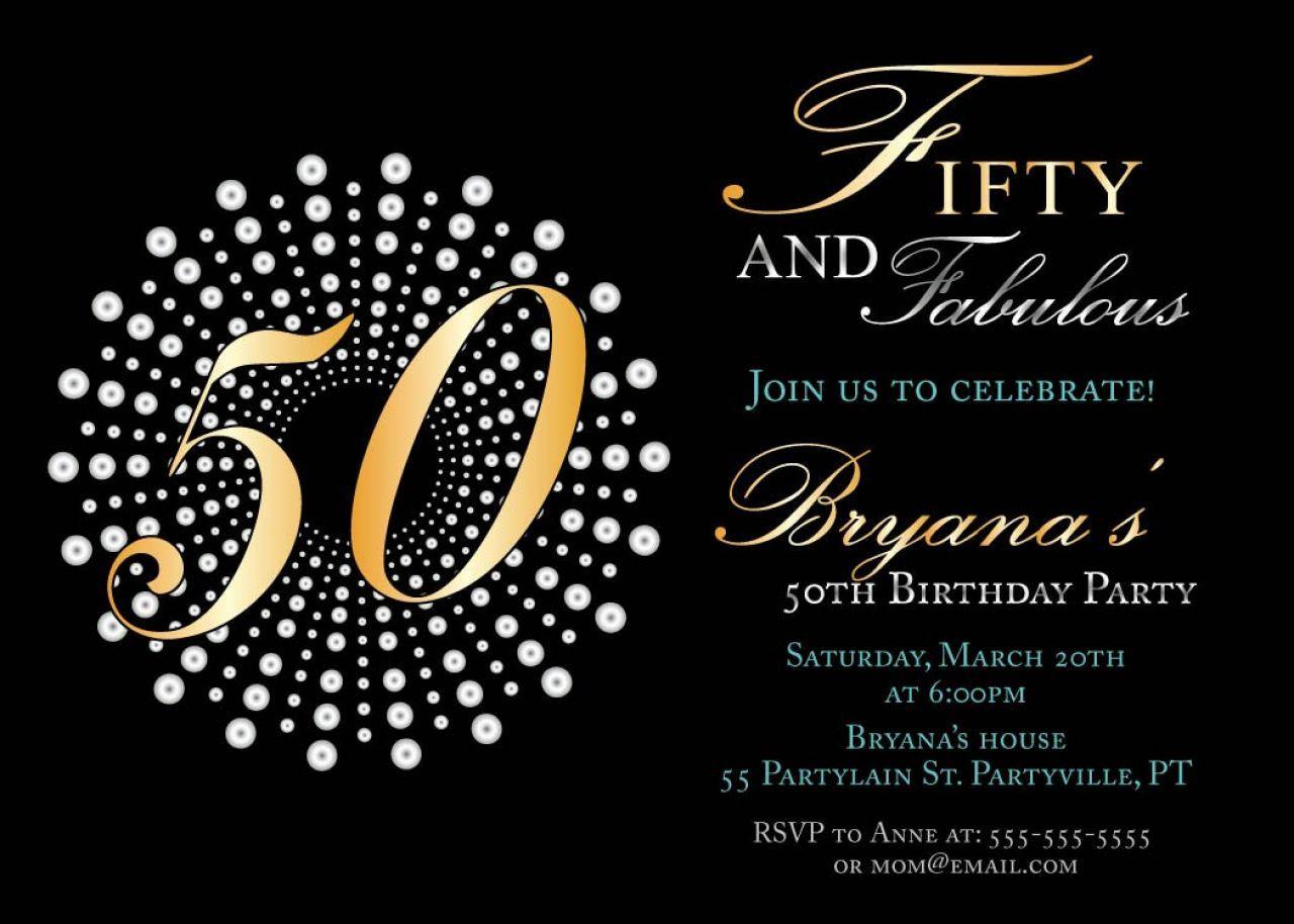 50th Birthday Invitations Templates