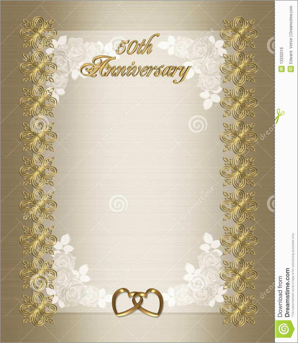 50th Wedding Anniversary Invitations Templates Free Download Marvelous 50th Wedding Anniversary Invitation Template Stock