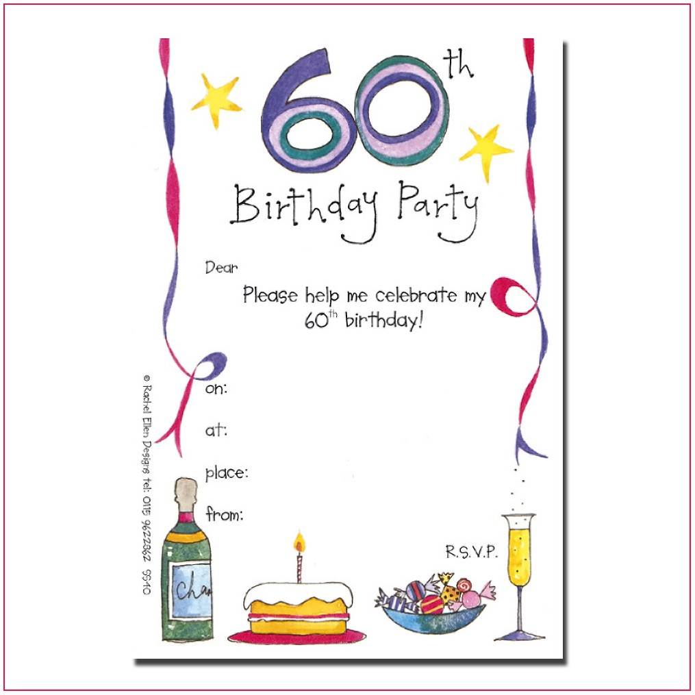 60th Birthday Invitation Templates Blank