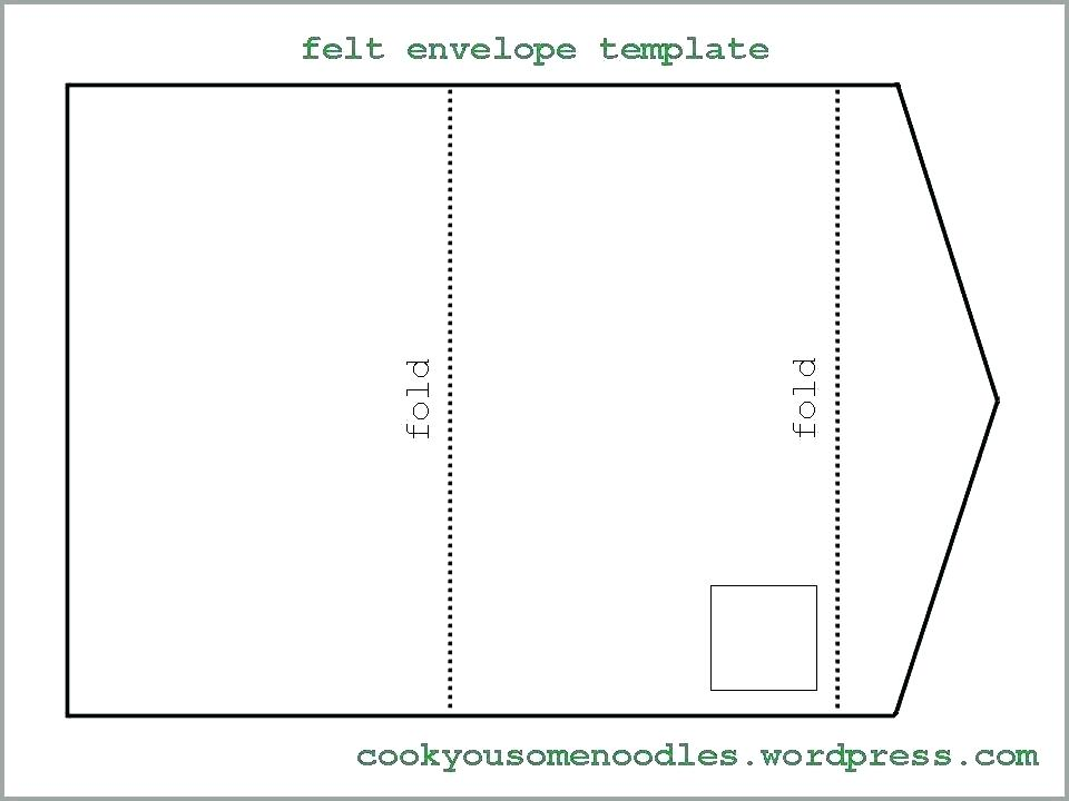 85 X 11 Envelope Template