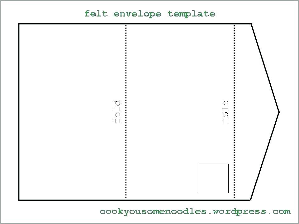 85 X 11 Envelope Template