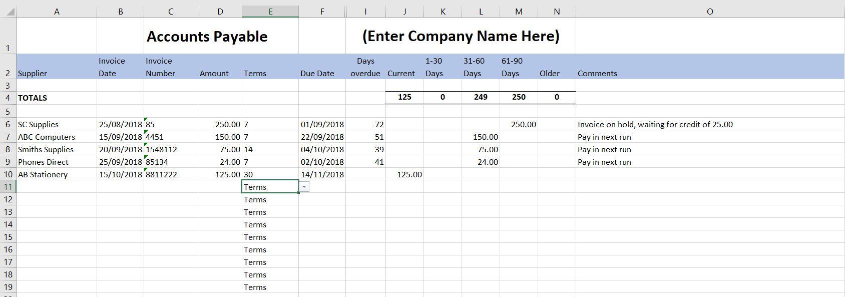 Accounting Spreadsheet Template Uk