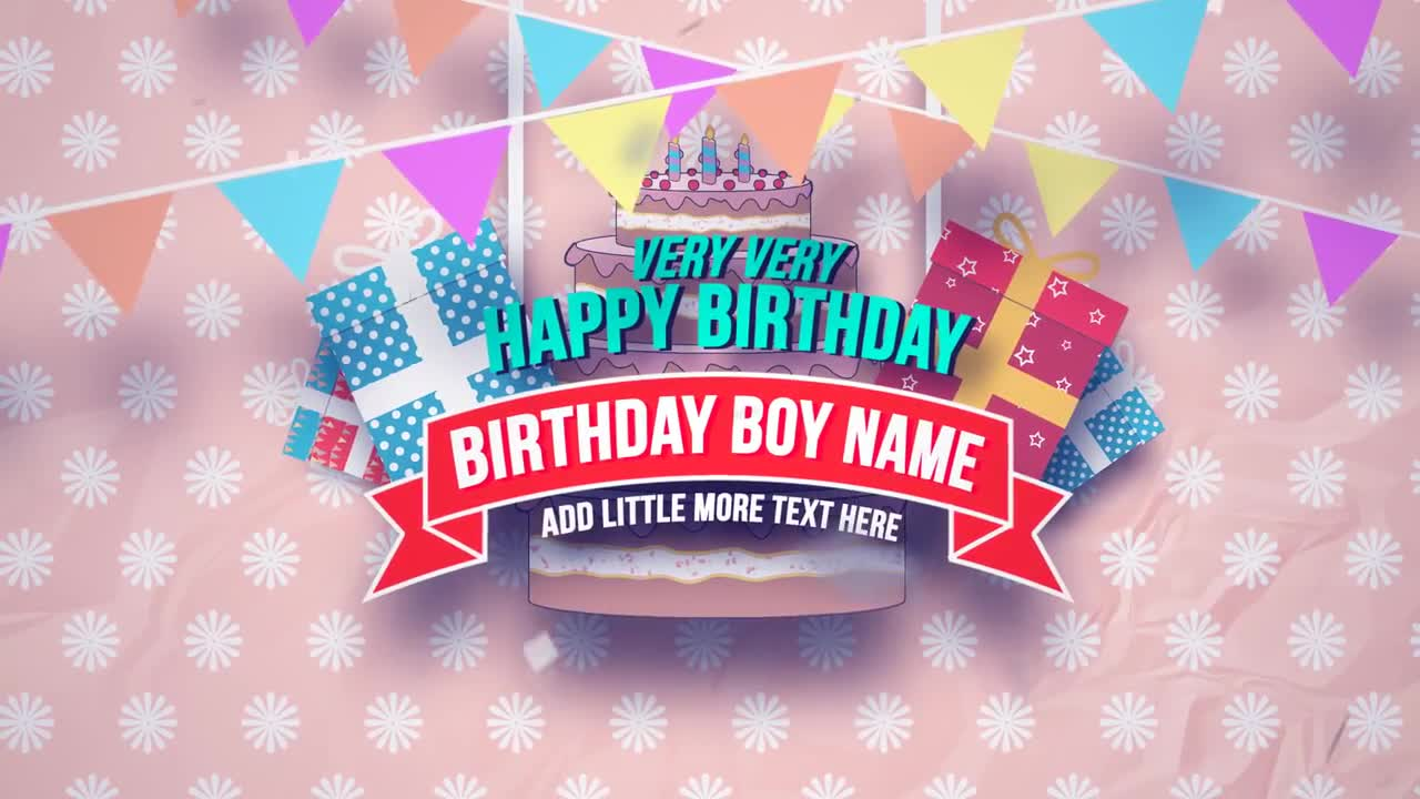 After Effects Birthday Template
