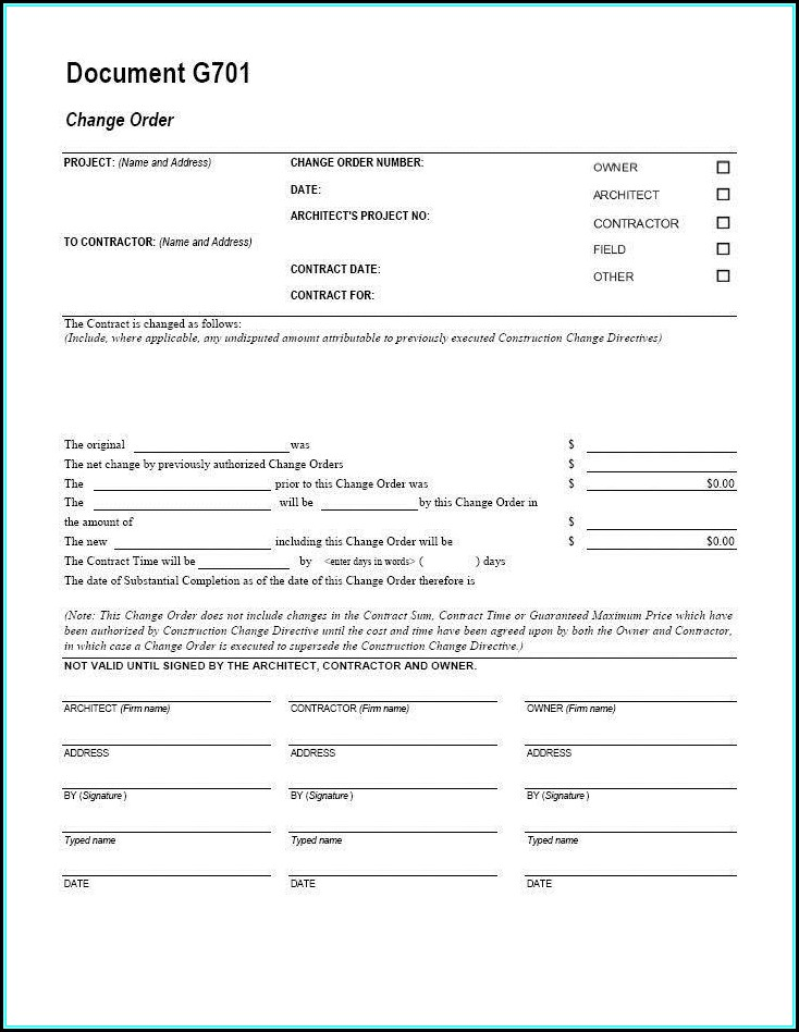 Aia Contract Template Free
