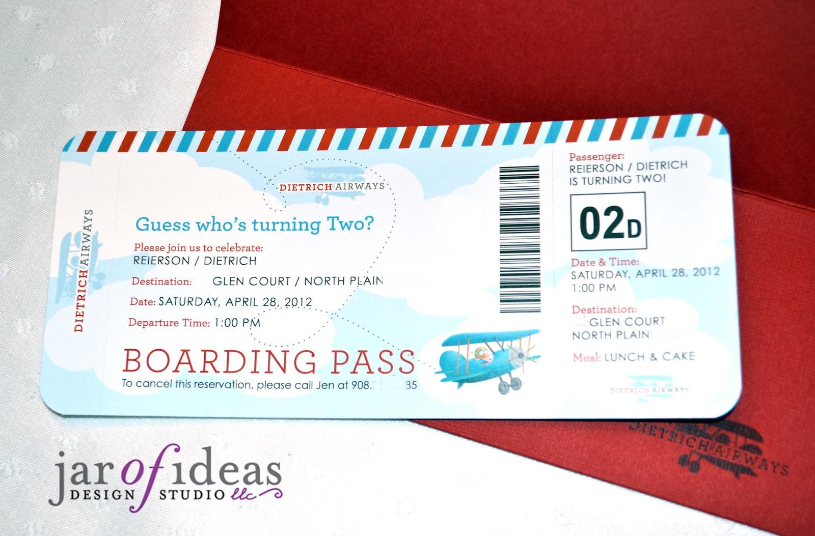 Airplane Birthday Invitation Template Jar Of Ideas Airplane Themed 2nd Birthday Invitation
