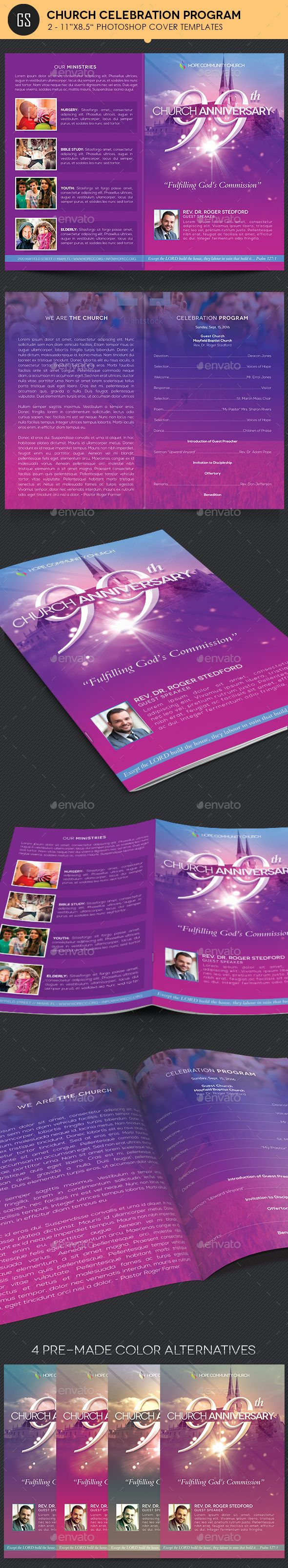 Anniversary Celebration Church Anniversary Program Template