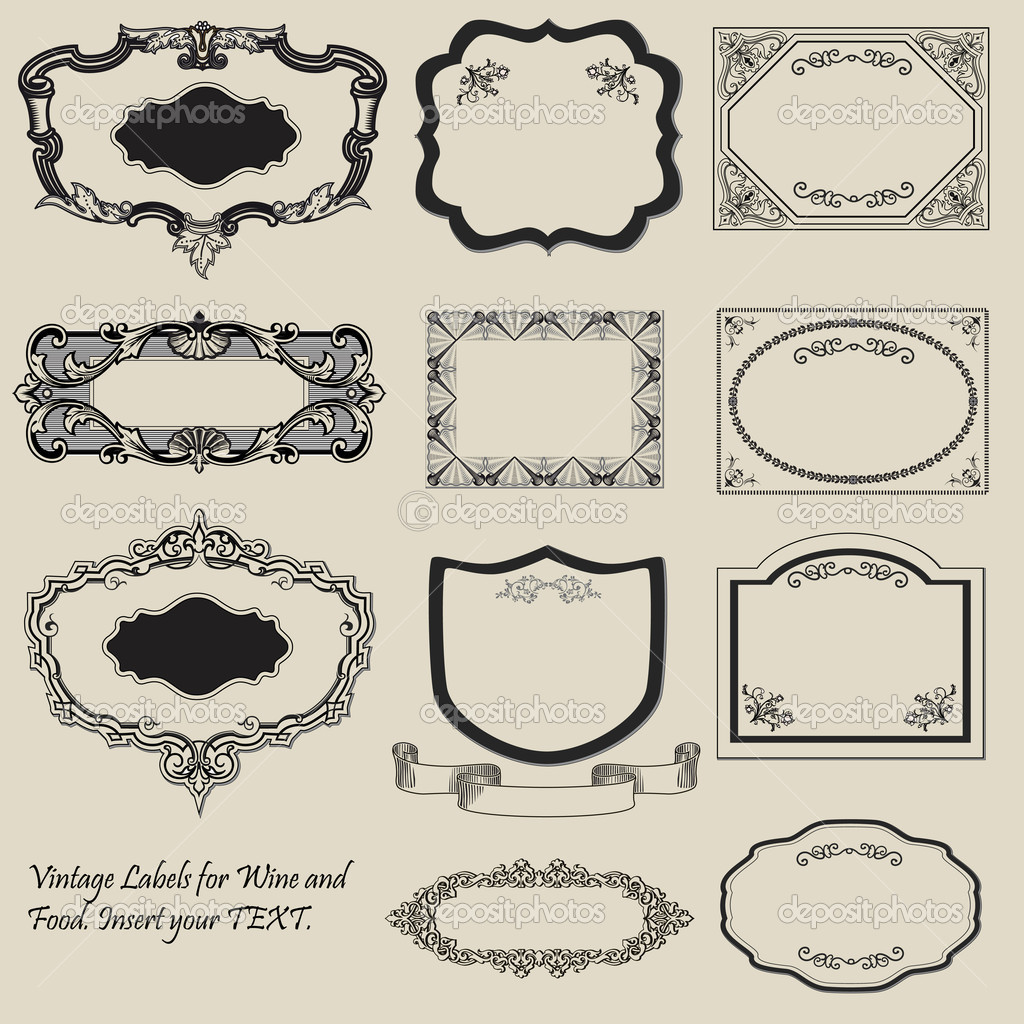 Vintage Labels Antique Vector