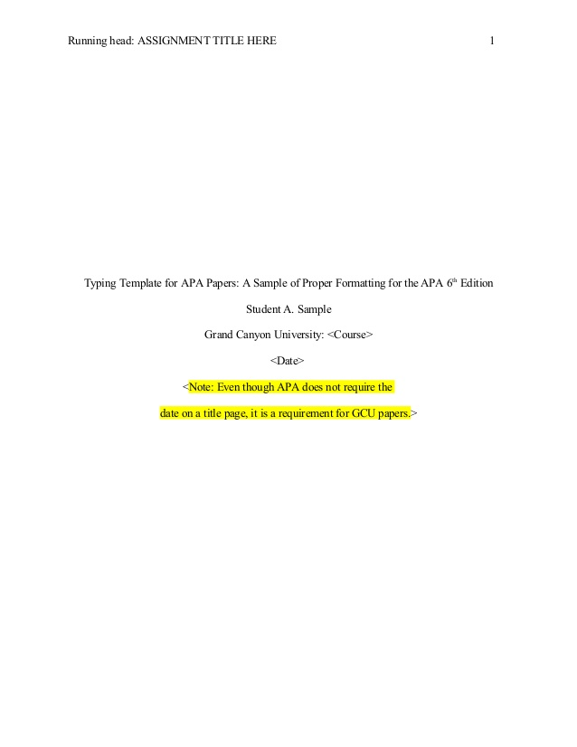 Apa 6th Edition Apa Abstract Template