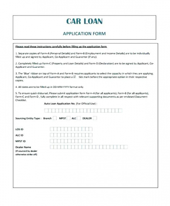 Free Car Loan Agreement Template Auto Finance Contract Template Car Financing Contract Template And Sample