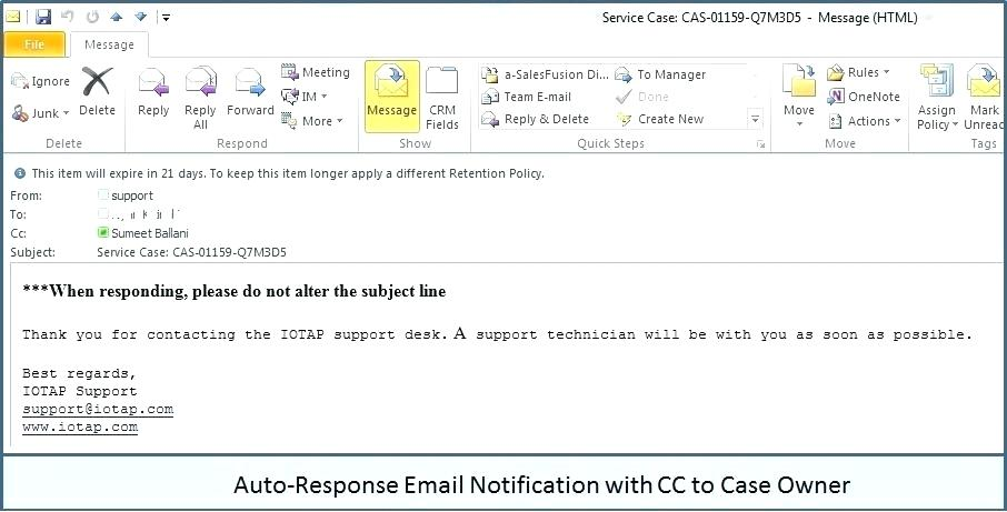 Automated Email Response Template