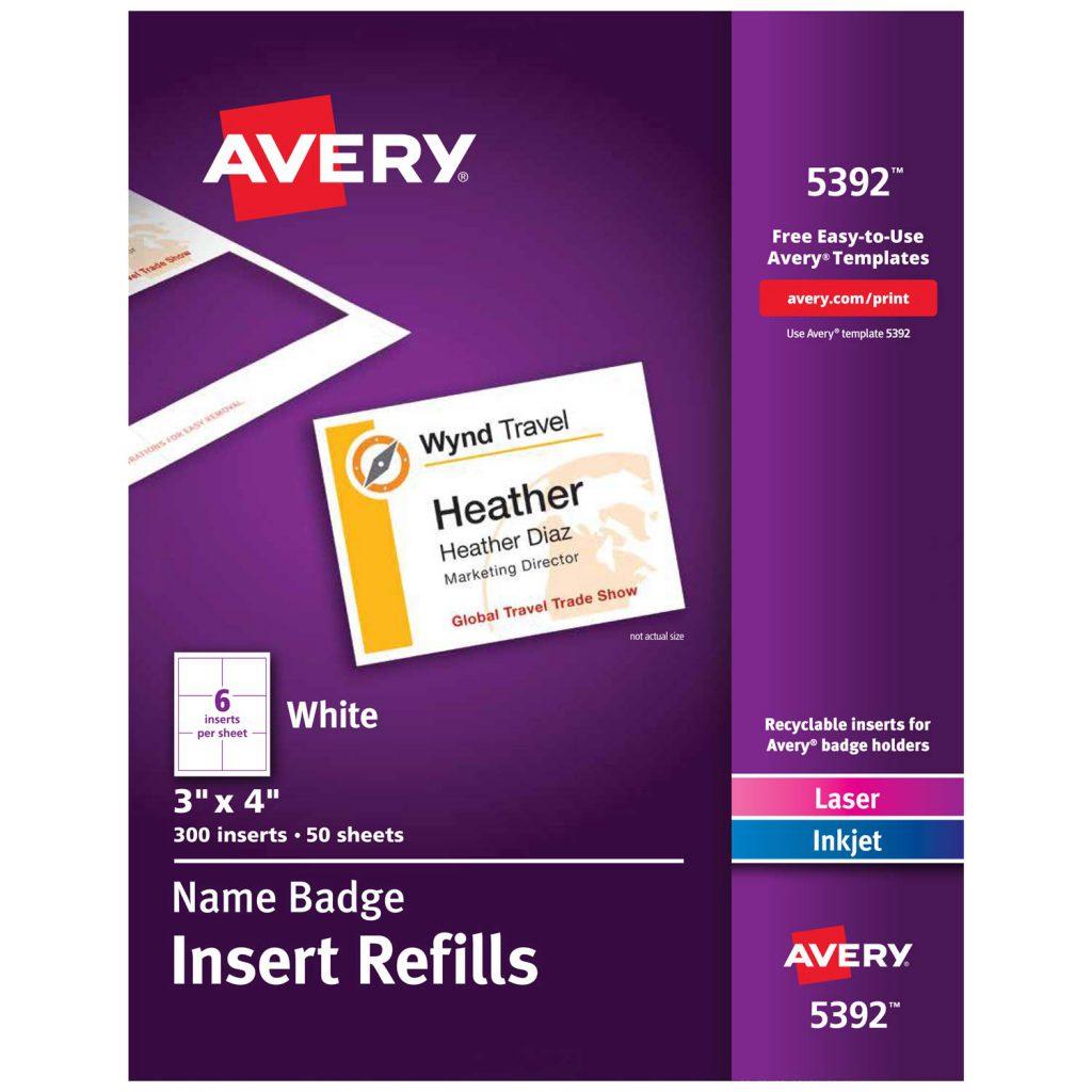 Avery Name Badge Template 74549