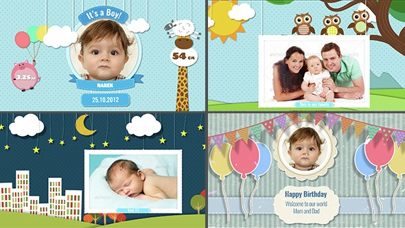 Baby Birthday Album Templates Free Download