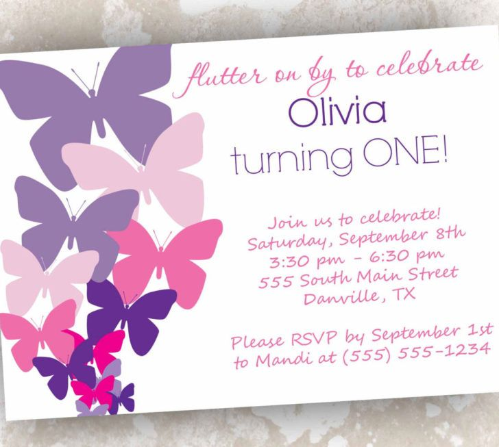 Baby Shower Butterfly Invitation Template