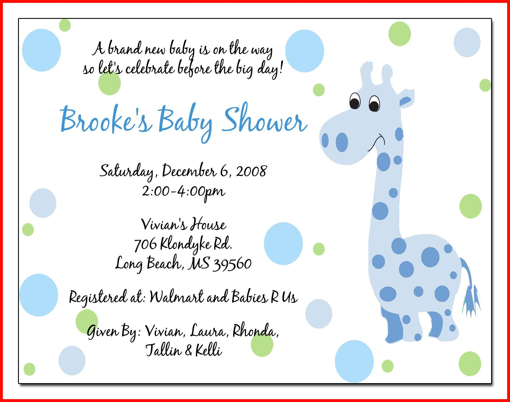Free Baby Shower Invitation Templates For Word 40321 Baby Shower Invite Samples Mughals