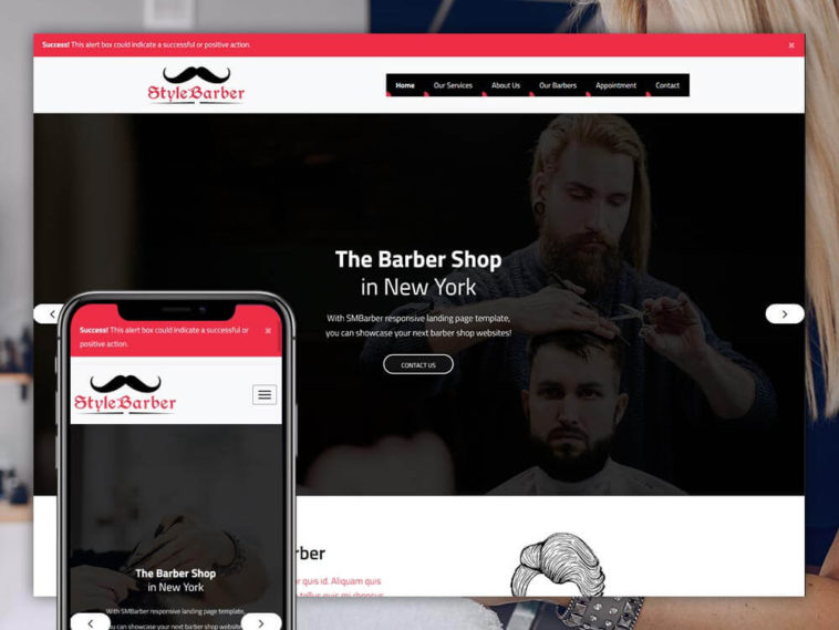 Barber Website Template Free