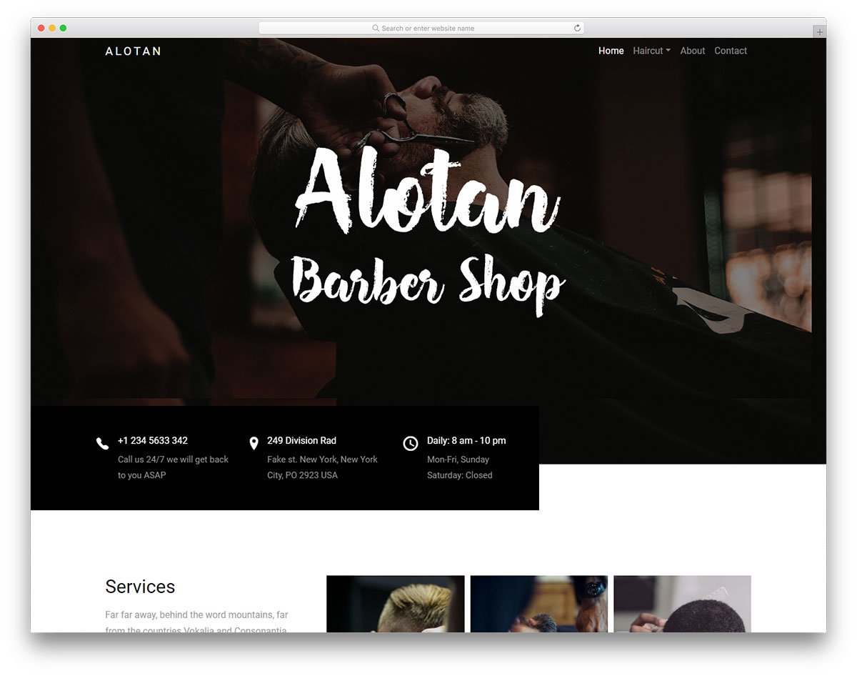 Barber Website Template