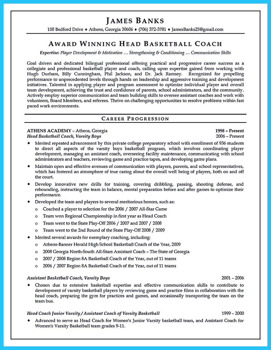 Basketball Coach Resume Template