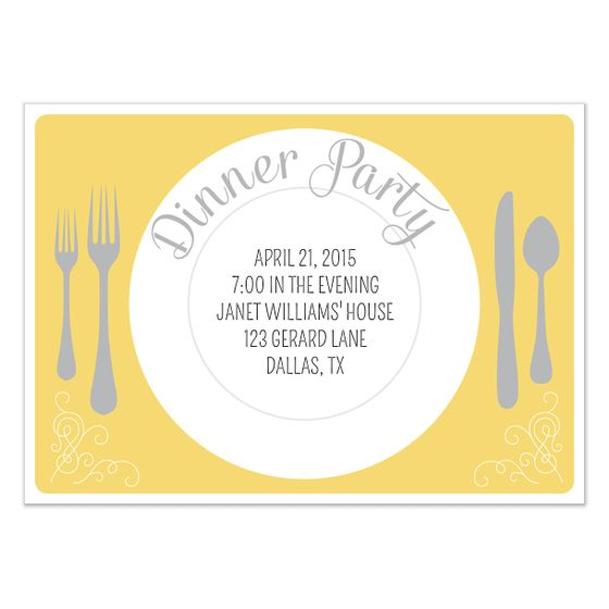 Birthday Dinner Invite Template