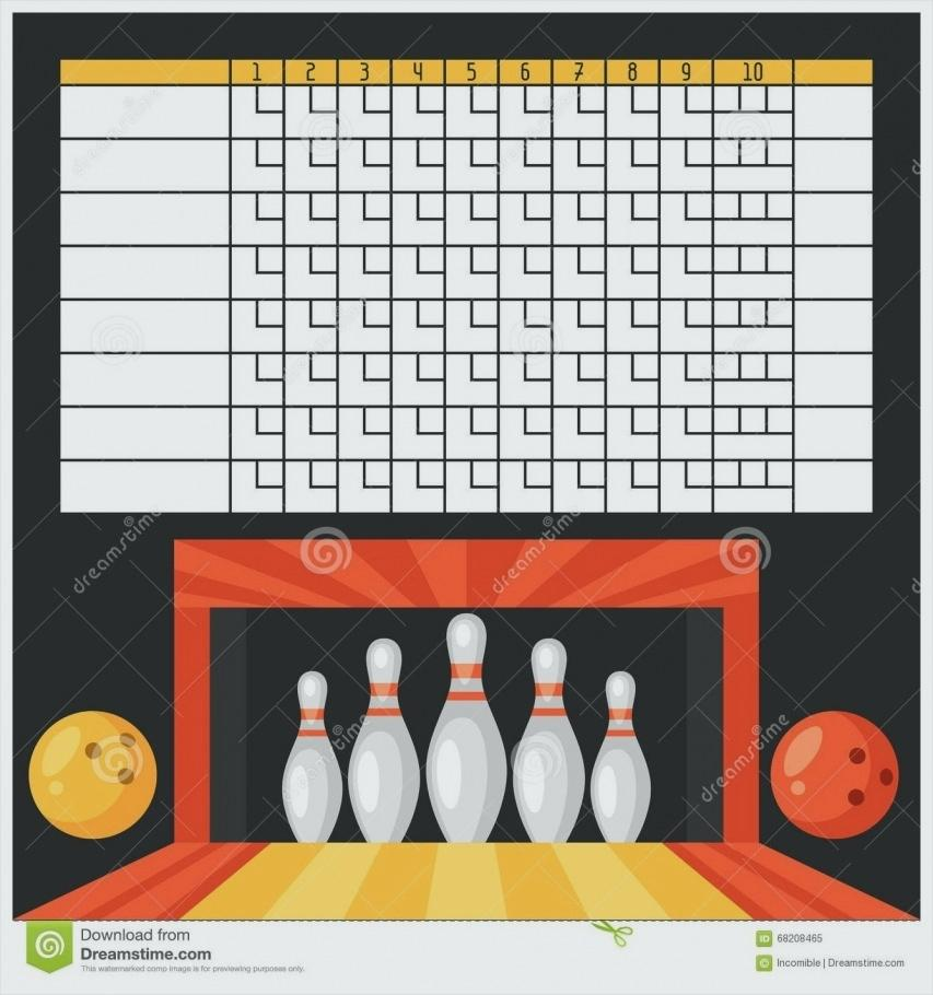 Blank Bowling Party Invitation Template