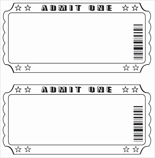 Blank Christmas Ticket Template