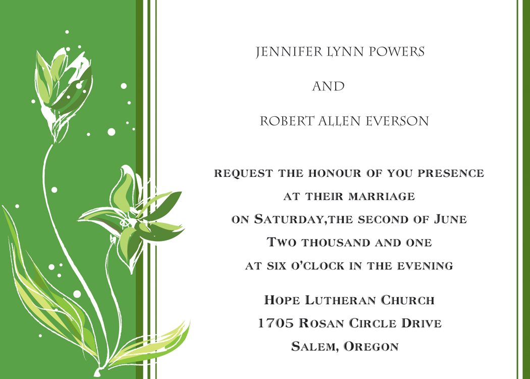 Blank Church Invitation Templates
