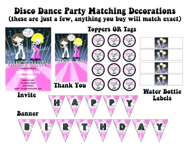 Blank Dance Party Invitation Template