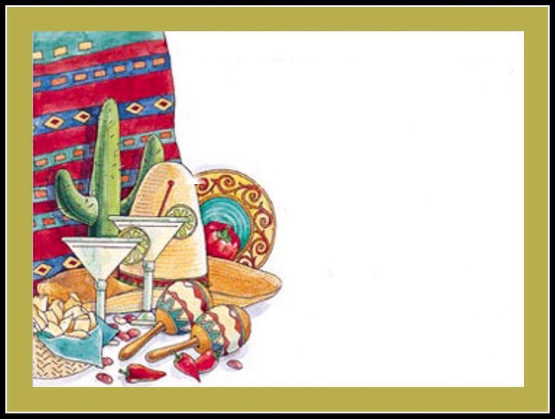 Blank Fiesta Invitation Template Free