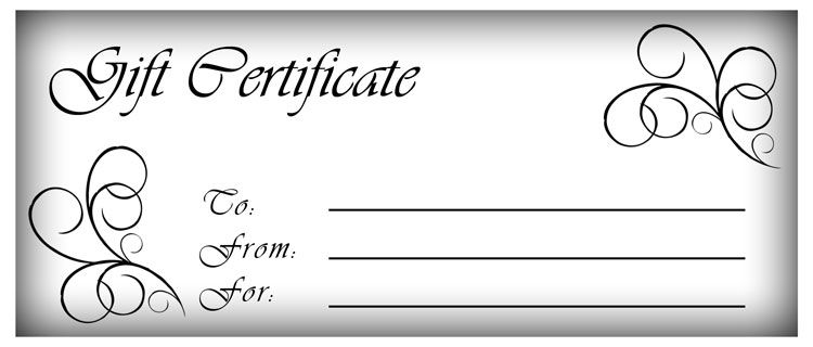 Blank Fillable Gift Certificate Template Free