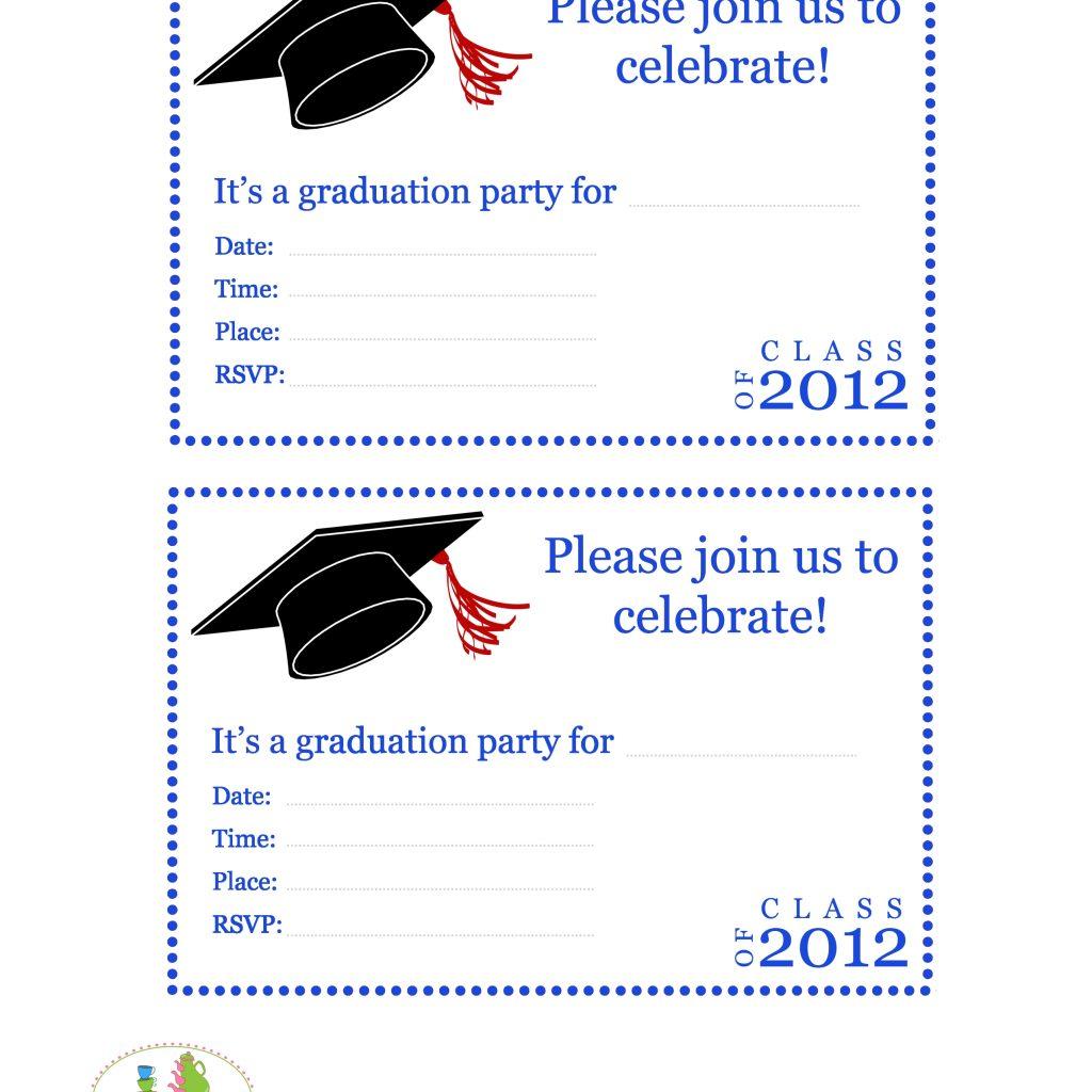 Blank Graduation Invite Template